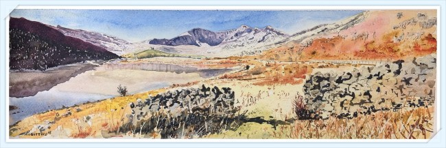 Snowdon and the National Park Painted from a photograph by Pierino Algieri